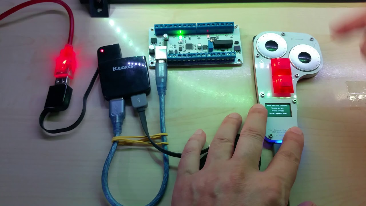 New CNC Controller with CNC Pendant in action  Available in my Tindie store
