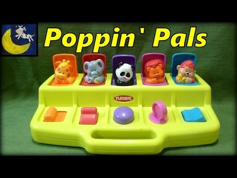 playskool poppin pals pop up jungle animals toy yellow base youtube