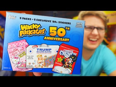 Wacky Packages! 50th Anniversary Unboxing