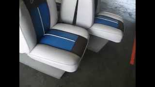 Sold Back To Back Lounge  Seats, Set Of Two, Plastic Bases