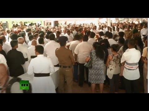 RT: Sri Lanka: Funeral prayers held at St. Sebastian's church ahead of mass burial