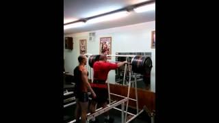 Александр Курак RAW присед  - 340 кг (без бинтов),подготовка к KRINICA MINSK STRONGMAN CUP - 2014!