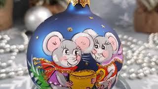 Відео огляд іграшка на ялинку кулька з символом року від год п Бабич