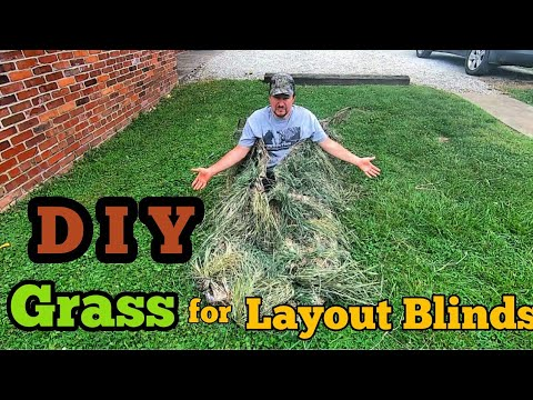 DIY Grass For Layout Blinds