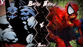 Vampire Batman VS Zombie Spider-Man (DC X Marvel) | Battle Royale Bonus | CX