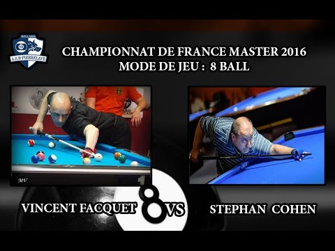 CFM 2016 - Day 2 - 8 ball -  Stephan Cohen vs Vincent Facquet