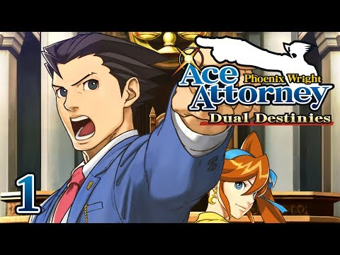 HE'S BACK! - Let's Play - Phoenix Wright: Ace Attorney: Dual Destinies - 1 - Walkthrough Playthrough