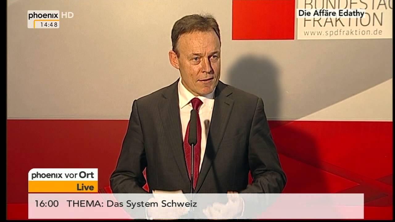 Der Fall Edathy: Statement von Thomas Oppermann (SPD) am ...