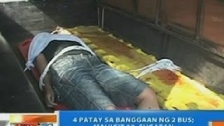 NTG: 4 patay sa banggaan ng 2 bus sa Negros Occidental; mahigit 30, sugatan