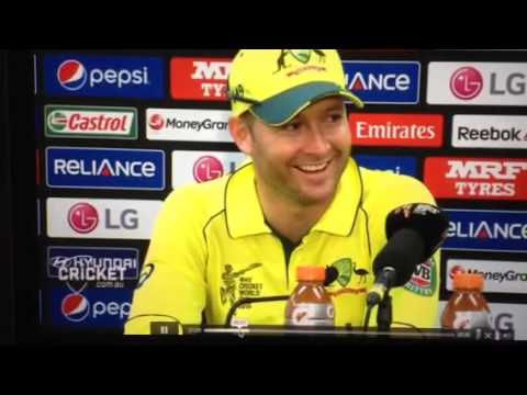 Michael Clarke Fishing Rod Impression
