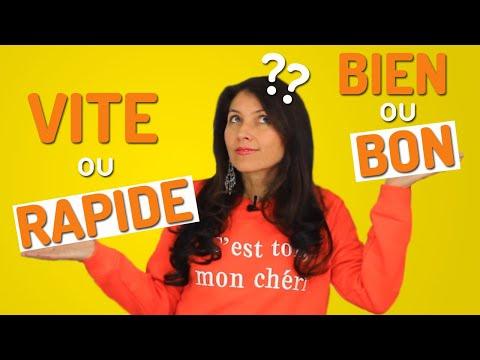 Adjectif Ou Adverbe En Français ? | Vite Ou Rapide ? Mieux Ou Meilleur ?...