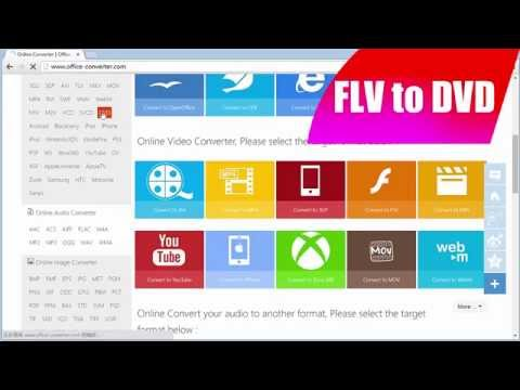 FLV to DVD - How to Convert FLV to DVD