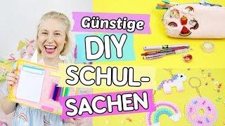 DIY Schulsachen selber machen ♥ Einhorn Organizer 🦄, Tumblr Pin & Schlüsselanhänger!