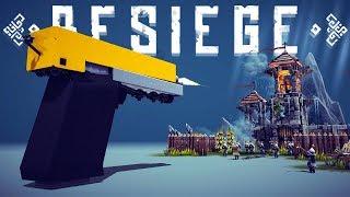 Besiege - Giant Gun Destroys Castle - The Best Walking Creations - Besiege Best Creations