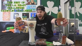 The Best Of The L.A. BEAST Challenges GAUNTLET CHALLENGE | ft. L.A. BEAST (Warning: vomit alert)