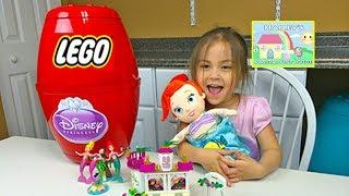 Big Disney Princess Ariel Surprise Egg with Little Mermaid Baby! Disney Princess Toys