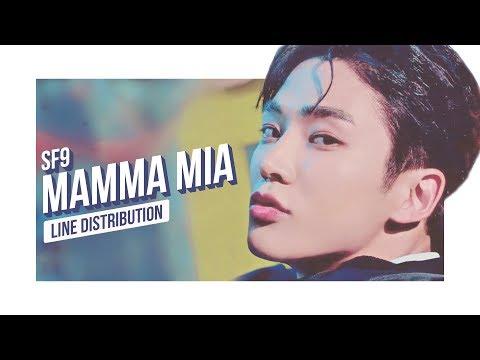 SF9 - MAMMA MIA Line Distribution (Color Coded) | 에스에프나인 - 맘마미아