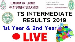 TS INTERMEDIATE RESULTS 2019 LIVE  || TS INTER 1ST YEAR RESULTS|| TS INTER 2ND YEAR RESULTSS
