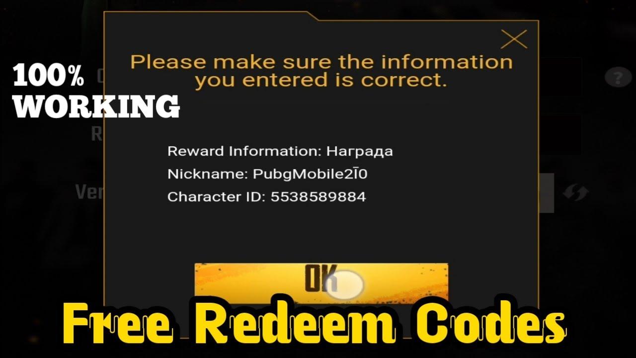 Pubg mobile New redeem code 2020 | redeem codes | Pro Tips ...