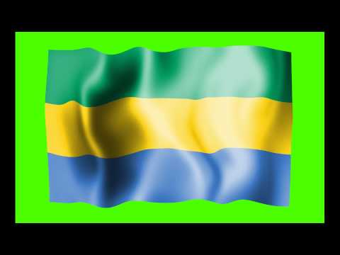 Gabon Waving Flag Green Screen Animation - Free Royalty Footage