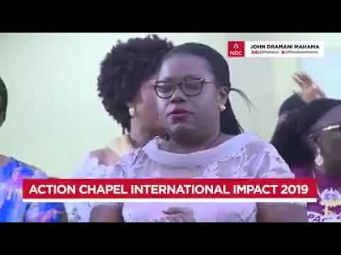 Mahama mobbed at Action Chapel International