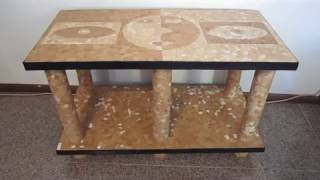 How to make a cardboard table and eggshell
