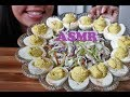 Download ASMR Deviled Eggs Eating Mukbang {Eating Sounds} No Talking Just Eating ASMR SNAKS