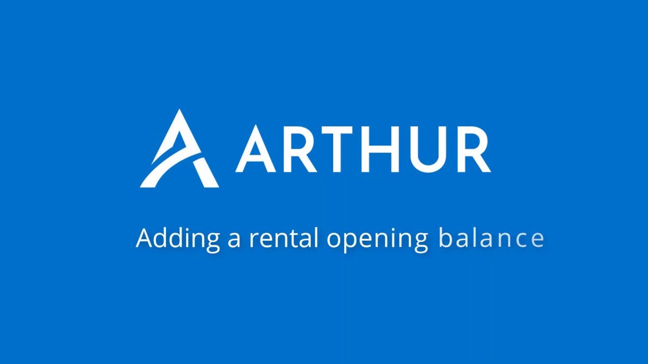 Adding A Rental Opening Balance