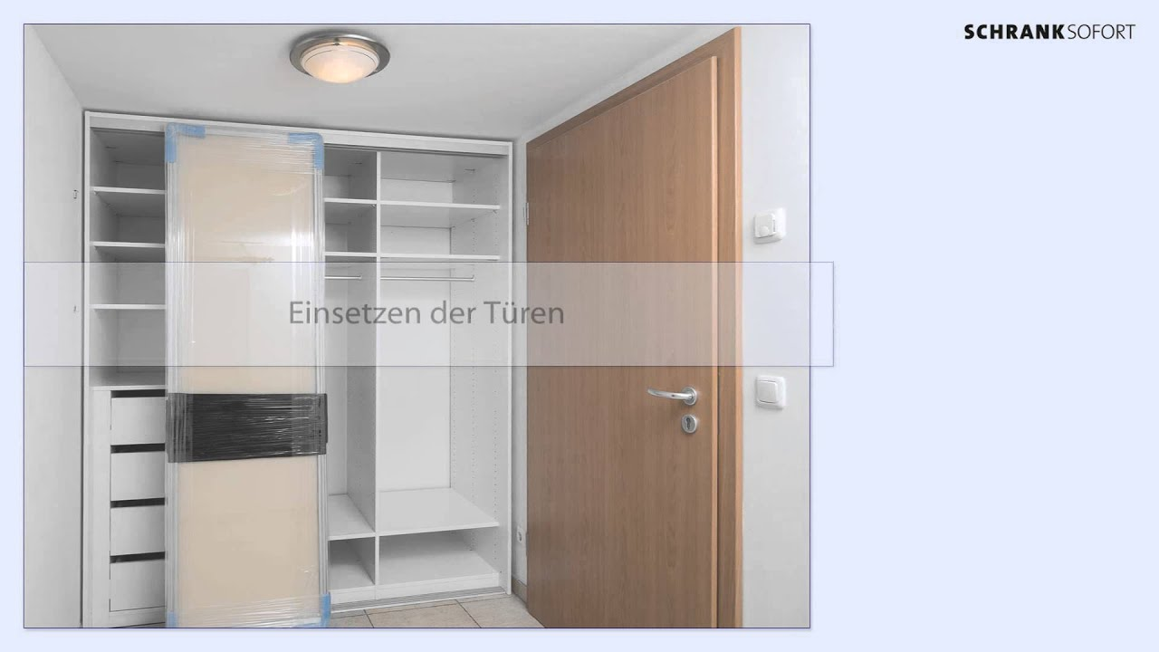 video anleitung aufbauanleitung schrank sofort youtube. Black Bedroom Furniture Sets. Home Design Ideas