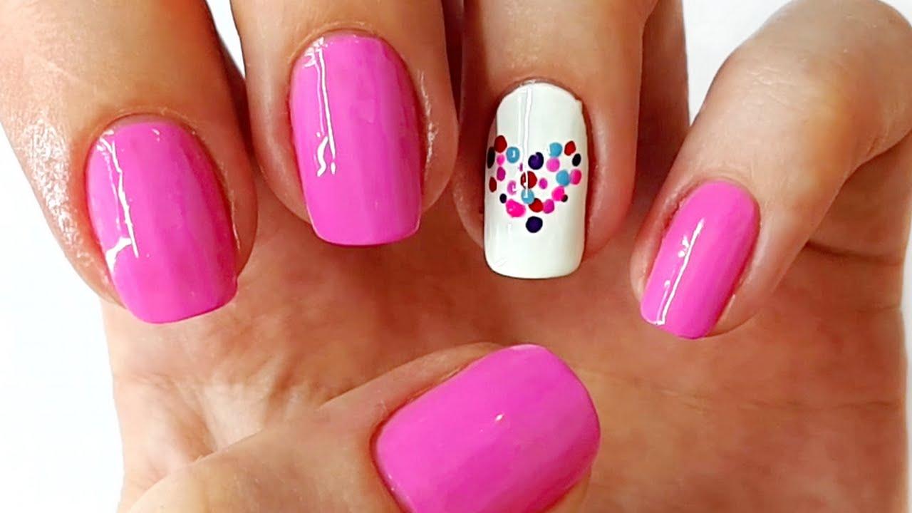 Easy heart nail art nail designs youtube easy heart nail art nail designs prinsesfo Gallery