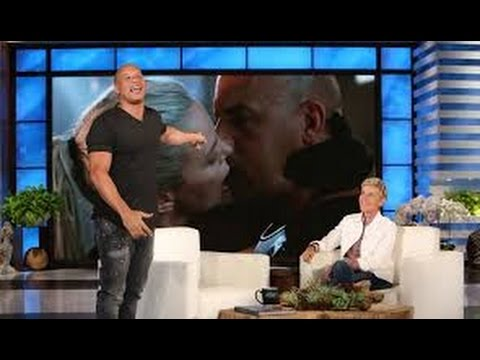 ELLEN SHOW VIN DIESEL FULL INTERVIEW & Talking STORY TO KISS With CHARLIZE THERON_F & F 1$ BILLION