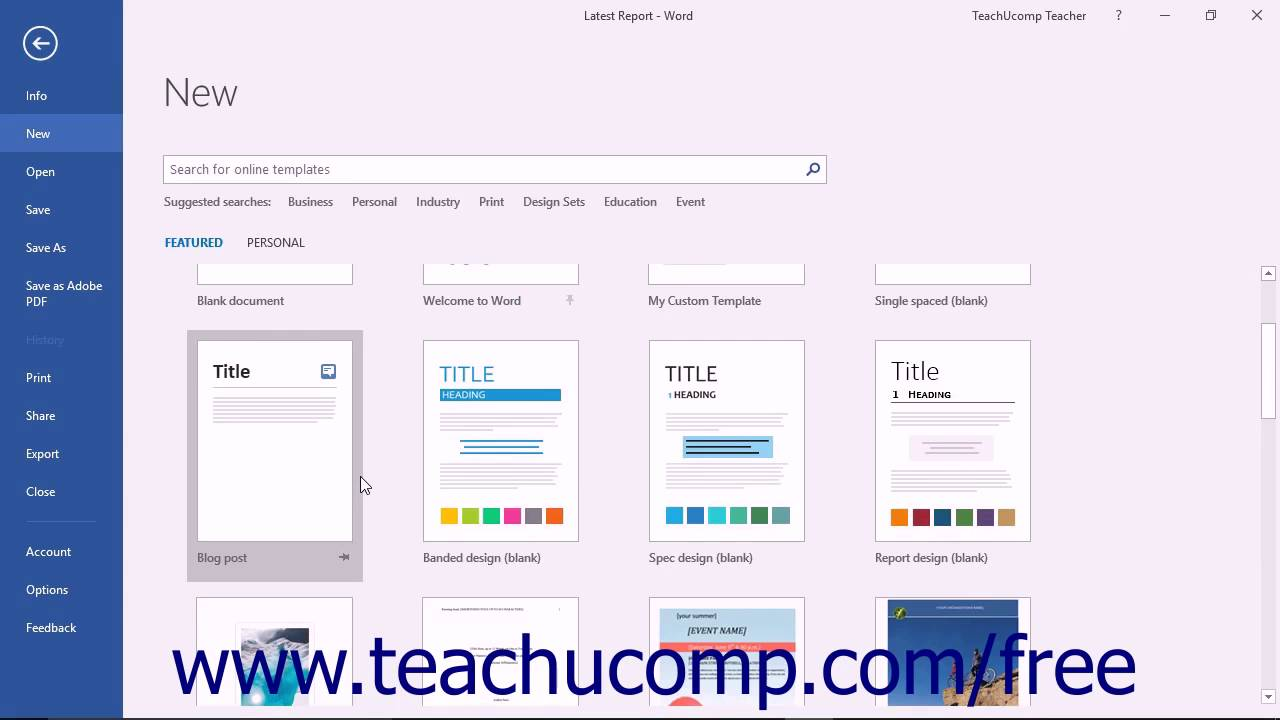 Word 2016 tutorial using templates microsoft training youtube word 2016 tutorial using templates microsoft training saigontimesfo