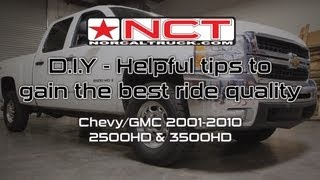 Tips For Better Ride Quality - Chevy / GMC HD's