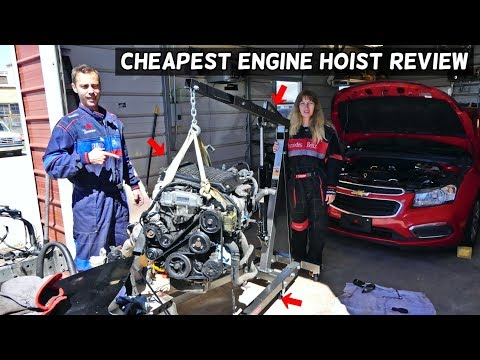 HARBOR FREIGHT TOOLS ENGINE HOIST CHERRY PICKER PRODUCT REVIEW AND ASSEMBLY
