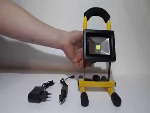 10w akkumul toros led reflektor akci youtube. Black Bedroom Furniture Sets. Home Design Ideas