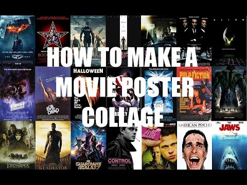 how to make a movie poster collage in ms paint youtube