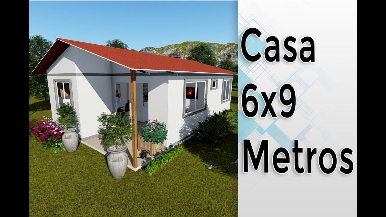Mini Casa De 6x9 Metros Prefabricada 3 Habitaciones Youtube