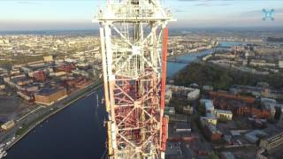Saint Petersburg TV Tower Aerial Drone Video / Санкт-Петербургская телебашня Аэросъемка