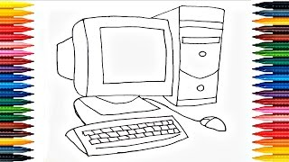 Colours For Kids Desktop Coloring Pages How To Color Computer Drawing Computer Pages