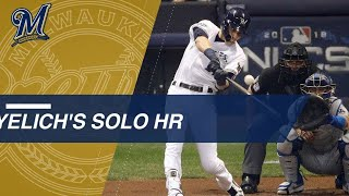 NLCS Gm7: Yelich's 1st-inning homer in Game 7