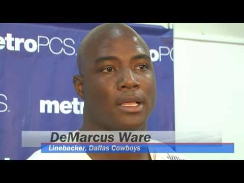 Dallas Cowboys Linebacker DeMarcus Ware Visits Farine Elementary School