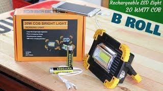 20W COB Bright LED Light - B ROLL | Gadgets Gate