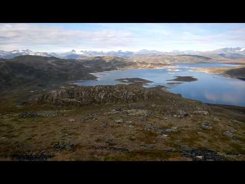 Peak view from Horntinden, Vang i Valdres, Tyin, Norway