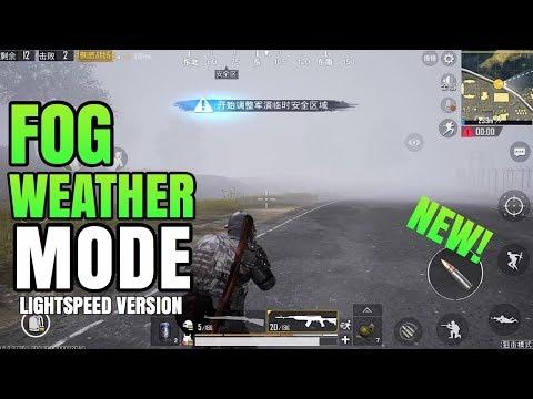 NEW FOG WEATHER MODE Full Gameplay! | PUBG Mobile Lightspeed
