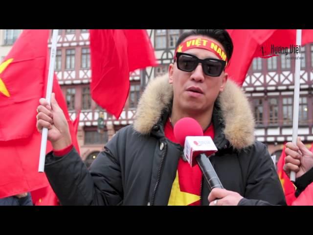 VIDEO PHÓNG SỰ: Người Việt tại Đức phản đối Trung Quốc quân sự hóa Biển Đông