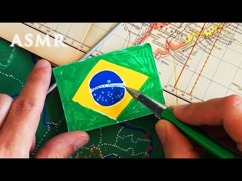 ASMR Map of Brazil Part 2 | João Gilberto | History | Drawing Flag thumbnail