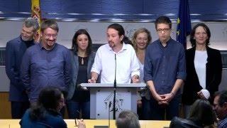 Rueda de Prensa: Pablo Iglesias desde el Congreso de los Diputados. 22/01/16