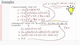 MCR3U/Grade 11 Functions: 2.2-2.3 Multiplying and Factoring Polynomials