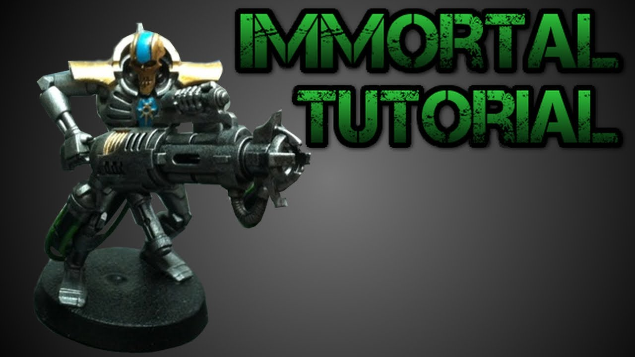 How To Paint Necron Immortals Nihilakh Dynasty Tutorial