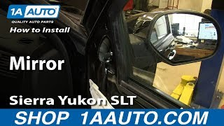 How To Install Replace Broken Mirror 2007-13 Silverado Tahoe LTZ Sierra Yukon SLT Denali
